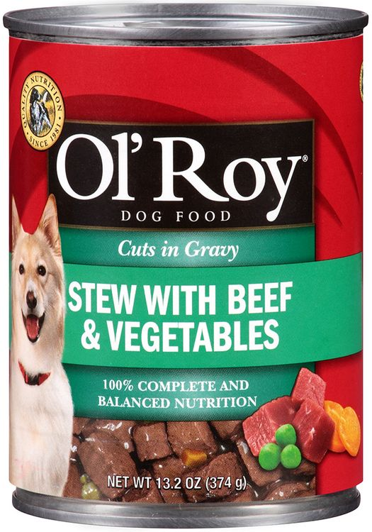 Ol' Roy® Cuts in Gravy Stew with Beef & Vegetables Dog Food
