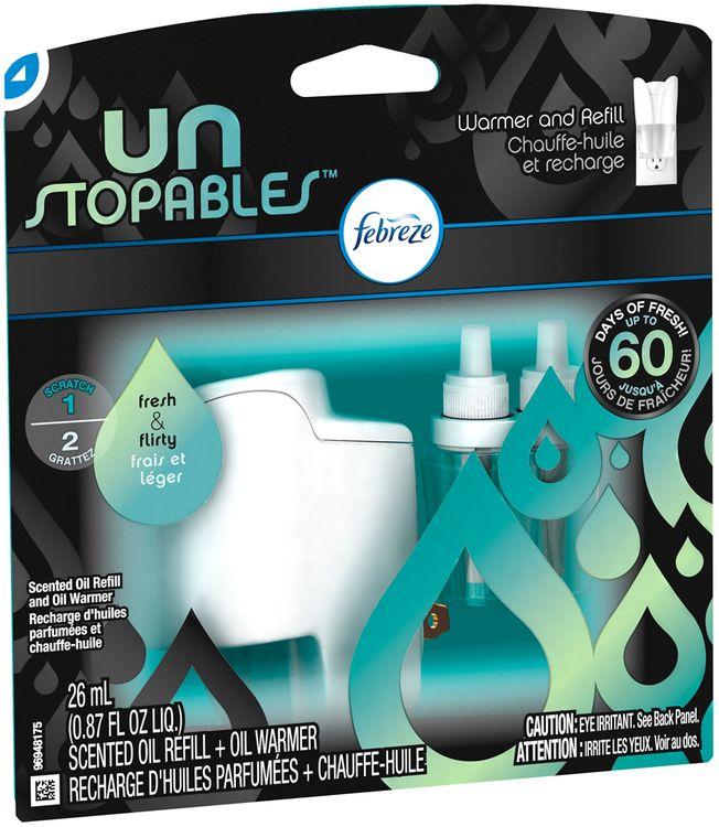 Febreze Unstopables™ Fresh & Flirty Scented Oil Refill & Oil Warmer Carded Pack