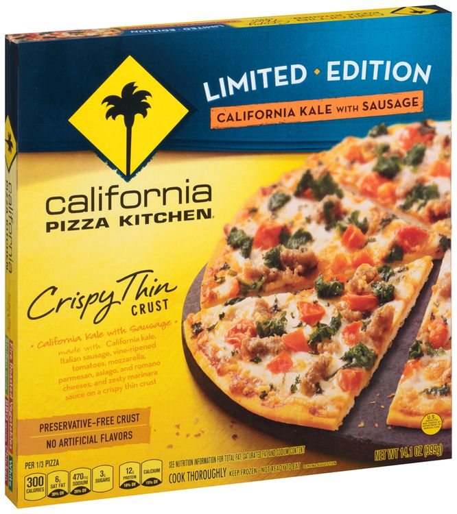 CALIFORNIA PIZZA KITCHEN Limited Edition Crispy Thin Crust CALIFORNIA Kale with Sausage PIZZA