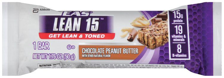 eas® lean 15™ chocolate peanut butter nutrition bar