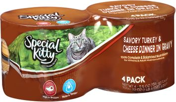Special Kitty™ Savory Turkey & Cheese Dinner in Gravy Wet Cat Food