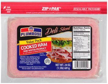 Plumrose® Deli Sliced Cooked Ham