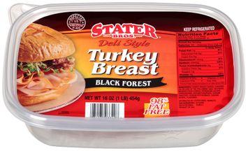 Stater bros® Deli Style Turkey Breast Black Forest