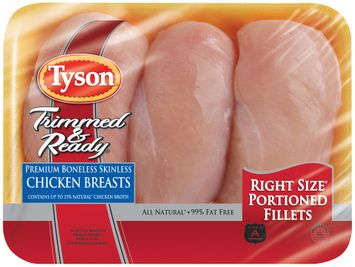 Tyson® Trimmed & Ready® Premium Boneless Skinless Chicken Breast Tray