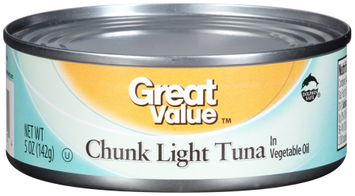 Great Value™ Chunk Light Tuna in Vegetable Oil
