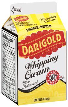 Darigold Ultra-Pasteurized Whipping Cream 1 Pt Carton