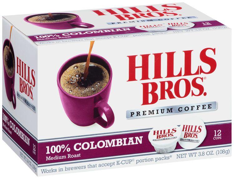Hills Bros.® 100% Colombian Medium Roast Premium Coffee Single Serve Cups 12 ct Box