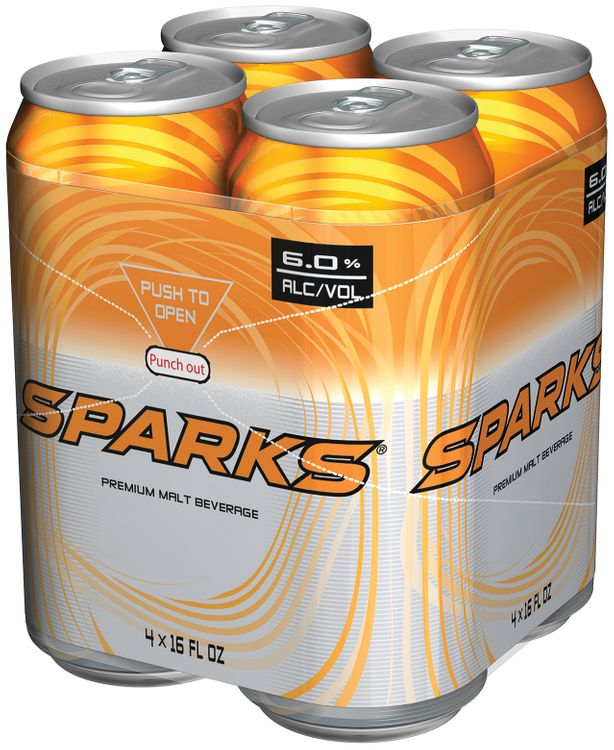 Sparks 6% Alcohol By Volume 4 Pk Premium Malt Beverage