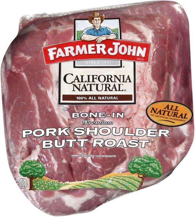 Farmer John® California Natural® Bone-In Pork Shoulder Butt Roast