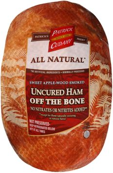 Patrick Cudahy® Sweet Apple-Wood Smoked Uncured Ham Off the Bone