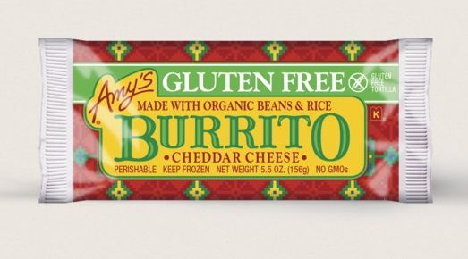 Amy's Kitchen Cheddar Cheese, Bean & Rice Burrito, Gluten Free