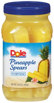 Dole Pineapple Spears In Light Syrup