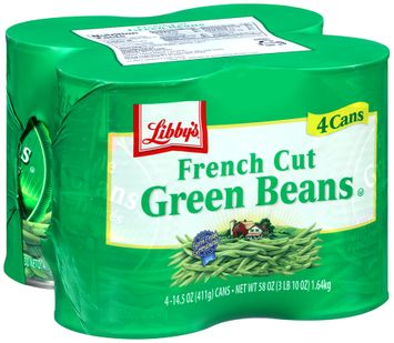 libby's® french cut green beans 4 pk