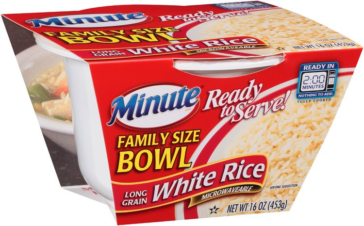 Minute® Ready to Serve Family Size Bowl Long Grain White Rice
