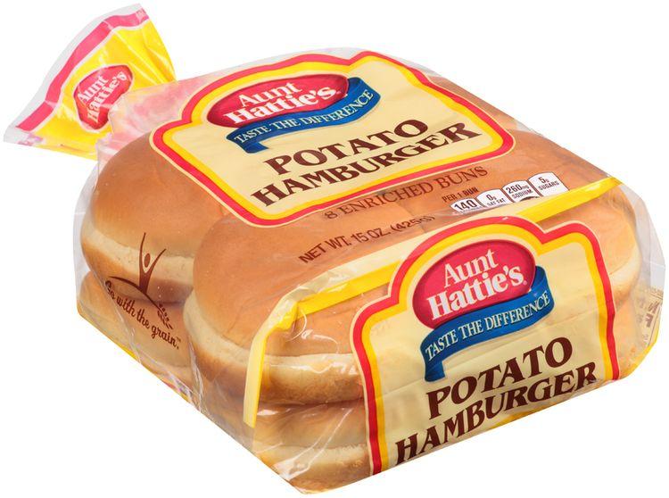 Aunt Hattie's® Potato Hamburger Enriched Buns 8 ct Bag