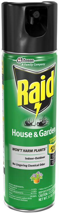 Raid House & Garden Bug Killer Formula 7 Insecticide