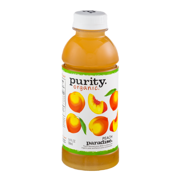 Purity Organic Flavored Juice Drink Peach Paradise
