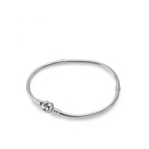 """Genuine PANDORA Sterling Silver 8.3 Bead Clasp Charm Bracelet 590702HV-21"""""""