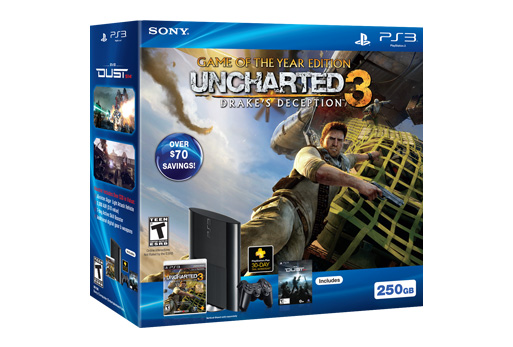 Sony PlayStation 3 250GB Uncharted 3 Game of the Year Bundle