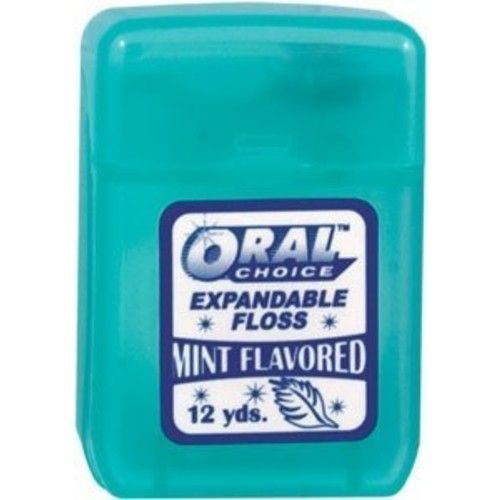 Oral Choice Expandable Mint Flavored Dental Floss, 1 pc Expandable Mint Flavored Dental Floss, 1 pc