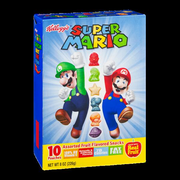 Kellogg's Super Mario Assorted Fruit Flavored Snacks - 10 CT