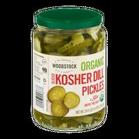 Woodstock Organic Kosher Dill Pickles Sliced