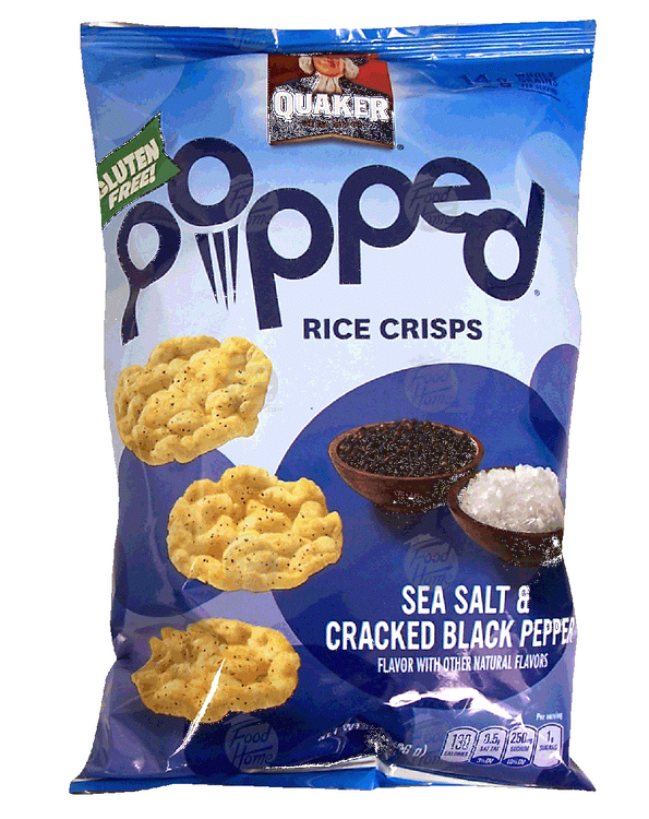 Quaker® Popped Sea Salt And Cracked Black Pepper