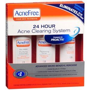 University Medical AcneFree 24 Hour Acne Clearing Sensitive Skin Kit, 1 set
