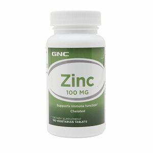 GNC Zinc 100, Vegetarian Tablets, 100 ea