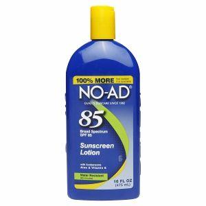 NO-AD Sunblock Lotion SPF 85 - 16 fl oz