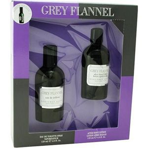Geoffrey Beene Grey Flannel Mens Gift Set with EDT Spray and Aftershave Lotion, 1 set