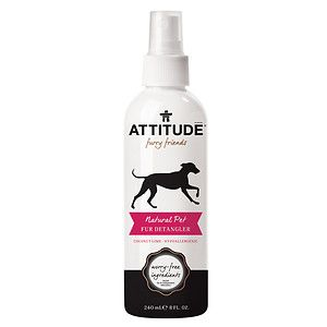 Attitude furry friends Natural Pet Fur Detangler, Coconut Lime, 8 fl oz