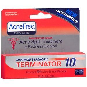 University Medical AcneFree Acne Spot Treatment + Redness Control Cream, 1 oz