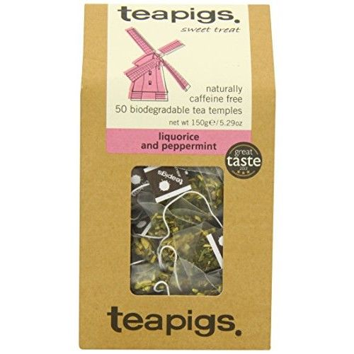 Teapigs Liquorice and Mint Tea Temples (50 Bags)