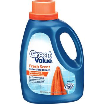 Great Value Fresh Scent Color Safe Bleach