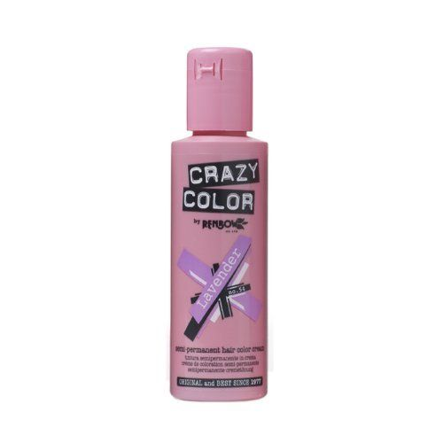 Crazy Color Semi Permanent Hair Color Cream Lavender No.54