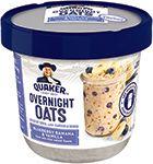 Quaker Overnight Oats Blueberry Banana Vanilla Bliss