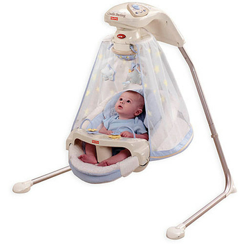 Fisher-Price - Starlight Papasan Cradle Swing