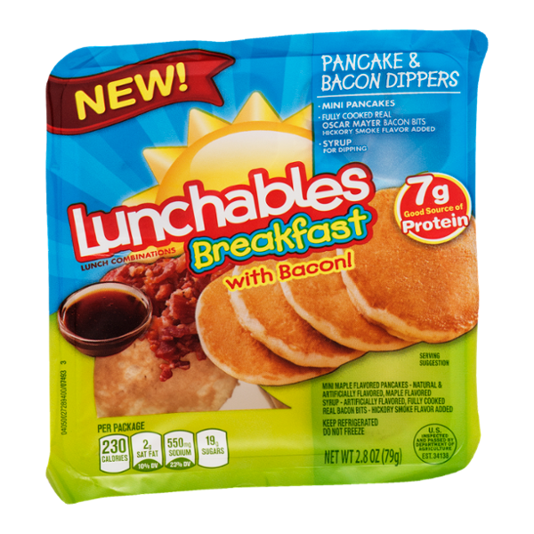 Lunchables Breakfast With Bacon! Pancake & Bacon Dippers