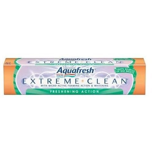 Aquafresh Extreme Clean Freshening Action, 7-Ounce Tubes (Pack of 6)