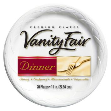 """Vanity Fair 11"""" Dinner Plate 20 ct"""