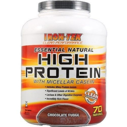 Iron Tek Essential Natural High Protein, Chocolate Fudge, 2.3-Pound