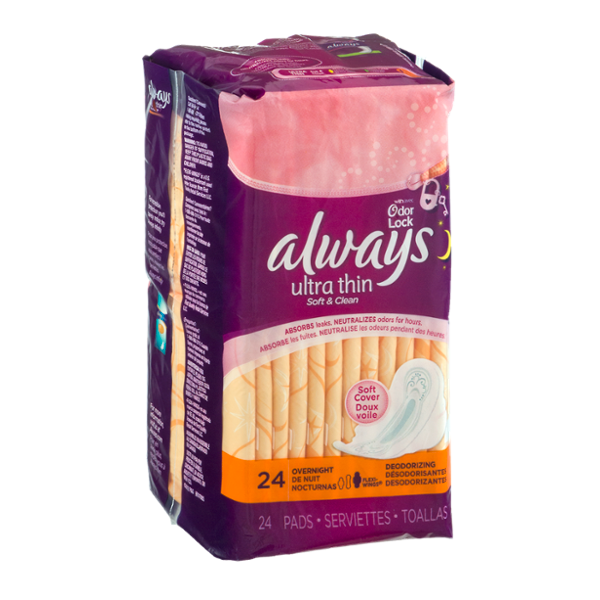 Always Ultra Thin Soft & Clean Overnight Pads