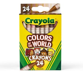 Crayola Colors of the World Skin Tone Crayons, 24 Count