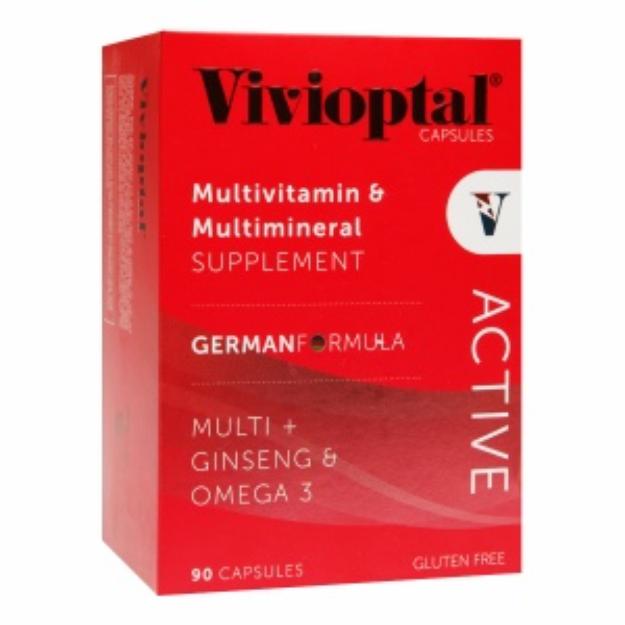 Vivioptal Active Multivitamin & Multimineral Supplement, Capsules, 90 ea