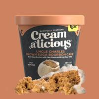 Creamalicious Uncle Charles Brown Suga Bourbon Cake Ice Cream
