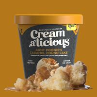 Creamalicious Aunt Poonie's Caramel Pound Cake Ice Cream