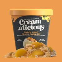 Creamalicious Porch Light Peach Cobbler Ice Cream