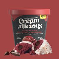 Creamalicious Right As Rain Red Velvet Cheesecake Ice Cream