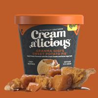 Creamalicious Grandma Gigi Sweet Potato Pie Ice Cream